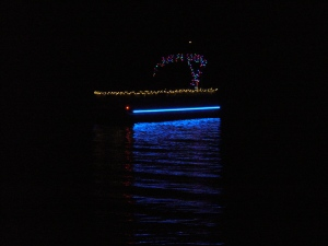 one of the boats in the light parade