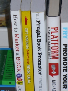 standing stack of marketing books