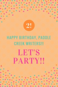 birthday graphic for Paddle Creek Writers