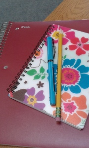 notebooks, pencil, pen