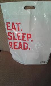 Eat. Sleep. Read. shopping bag