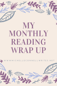 monthly reading wrap up graphic
