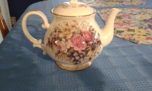 flowery tea pot