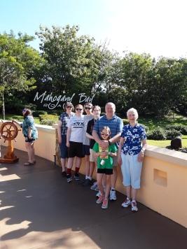 my family at Mahogany Bay